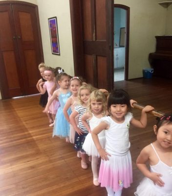 Little Ballerina's at the barre